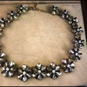 The Loft Black and clear crystal necklace elegant